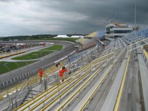 A soggy Iowa Speedway at 9:30 am