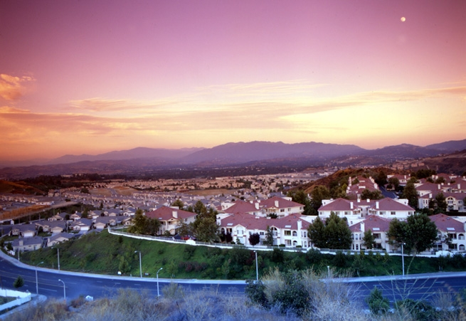 Sunset over Santa Clarita