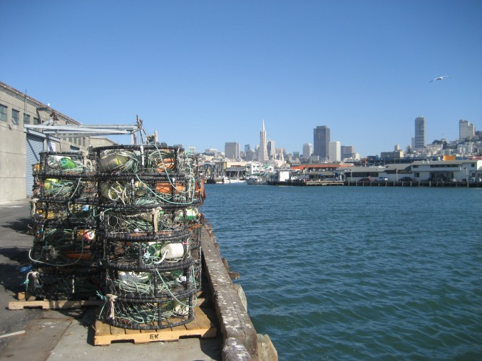 Crab pots on fisherman's wharf