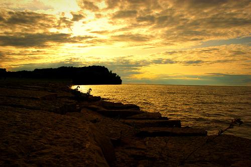 Sunset at Hamlin Beach