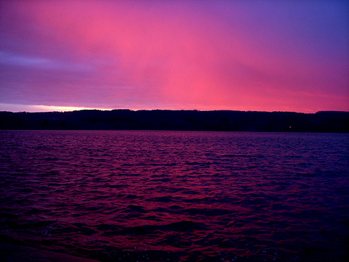 Dramatic Sunset over Silver Lake NY - copyright Pete Wilson @ Flickr