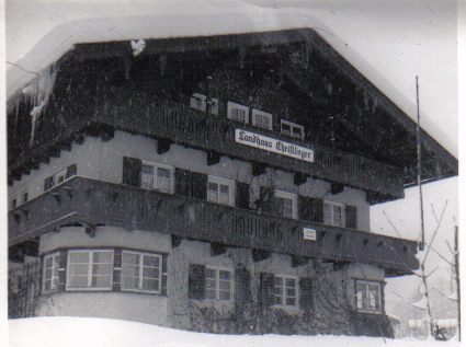 A German house he stayed at in Bertchesgarden in Feb 52