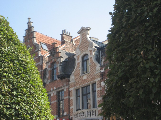 close up of the Flemish architecture
