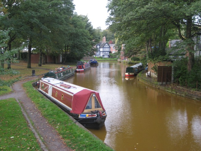 Canal boats on the Bridgewater Canal in Worsley