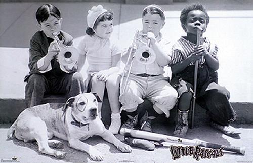 little rascals Pitbull Dog Character